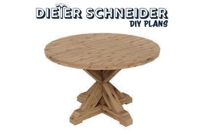 Circular Farmhouse Table plans