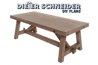 Massive Farmhouse Table Plans
