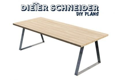 Modern Dining Table With Steel Legs